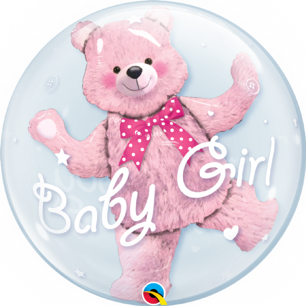 Baby Pink Bear Bubbles® Balloon
